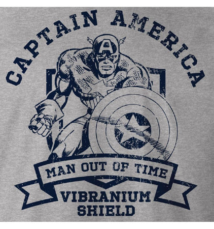 T-shirt Captain America Marvel - Vibranium Shield - MOVIESTORE