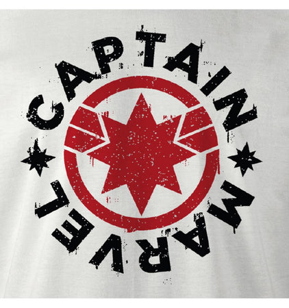 T-shirt Captain Marvel - Captain Marvel Logo - MOVIESTORE