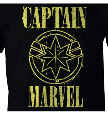 T-shirt Captain Marvel Marvel - Captain Marvel Yellow Logo - MOVIESTORE