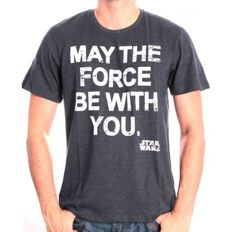 Tshirt Star Wars - May The Force Be With You