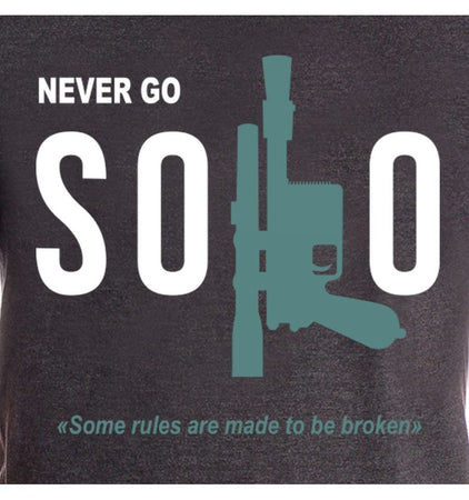 Tshirt Star Wars - Solo A Star Wars Story - Never Go Solo - MOVIESTORE