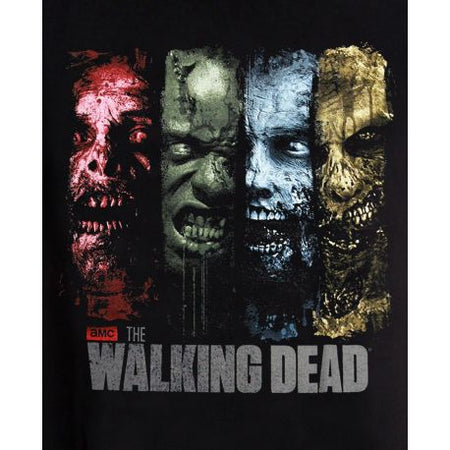 Tshirt  The Walking Dead - 4 Zombies - MOVIESTORE