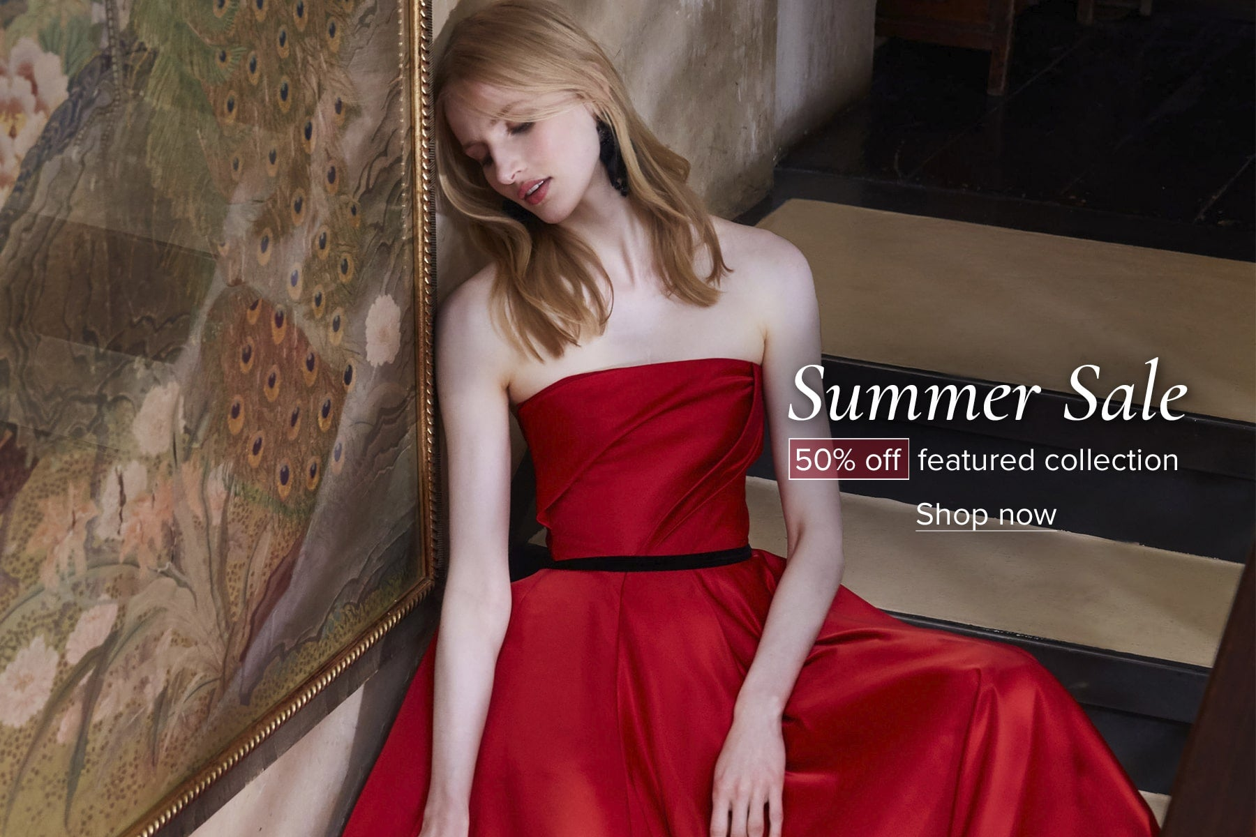 50% off featured collection in the Marchesa Summer Sale