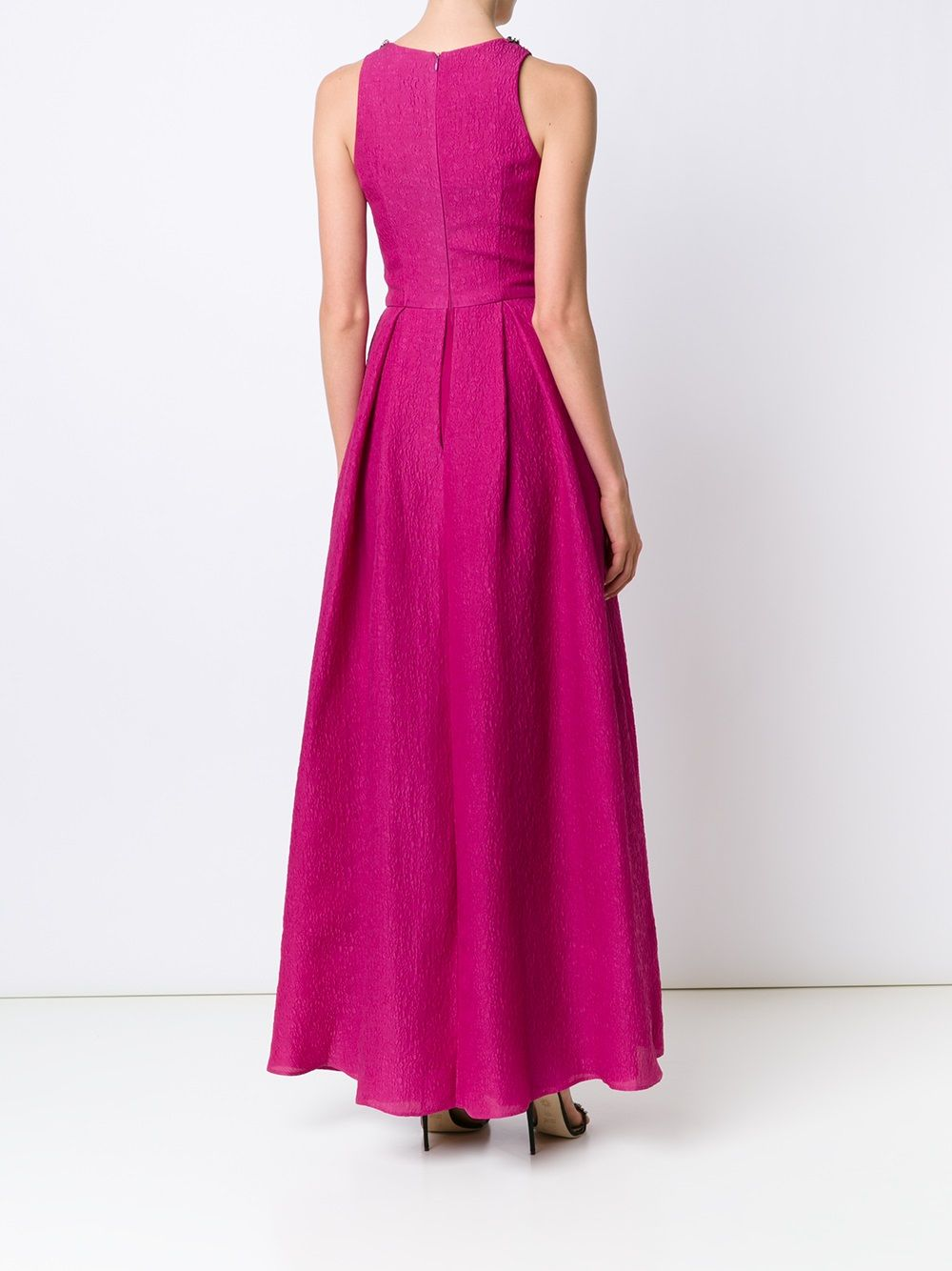 Pleated A-line Gown
