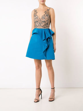 Drape Faille Cocktail Dress