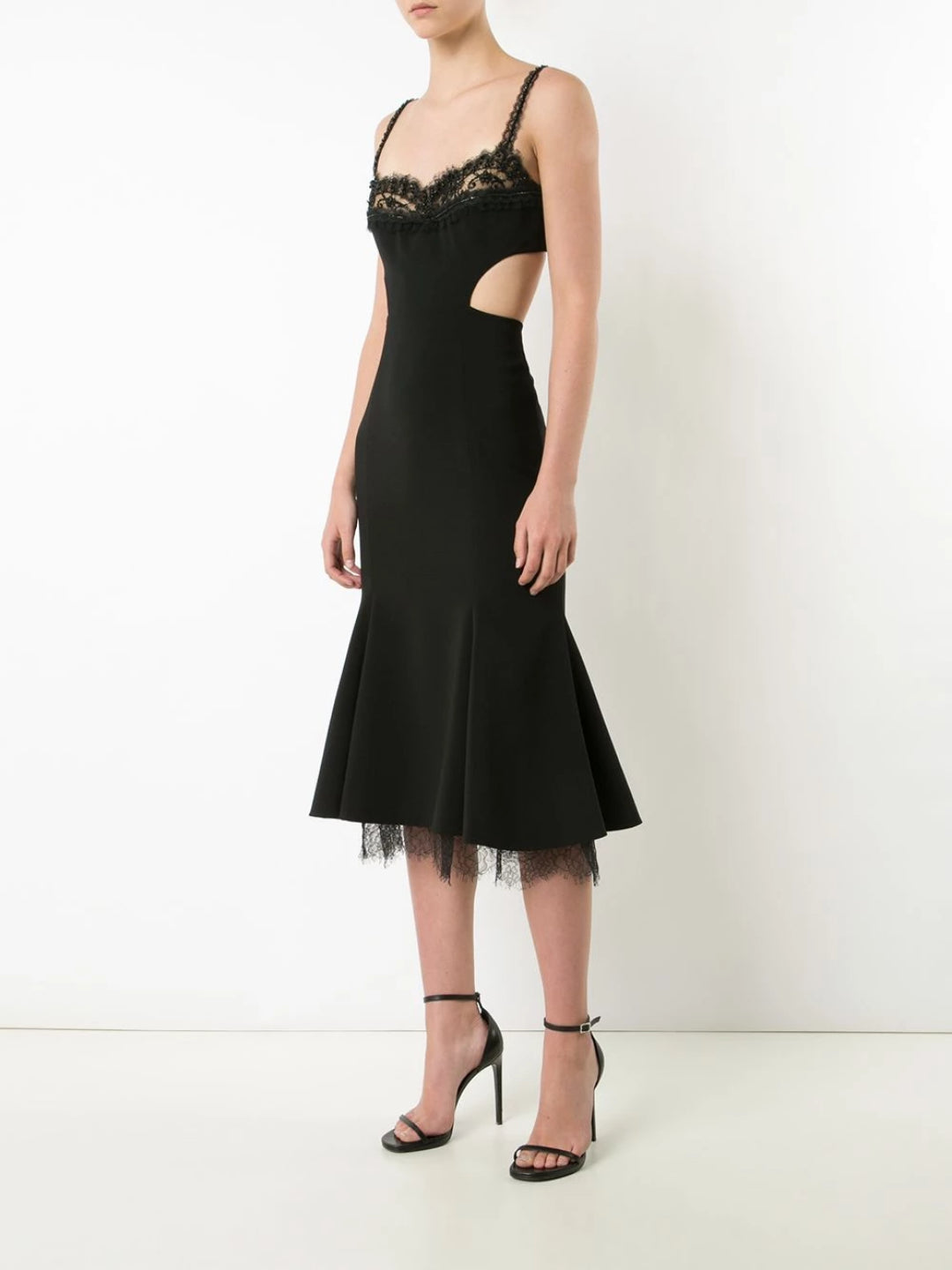 Cut-Out Crepe Cocktail Dress