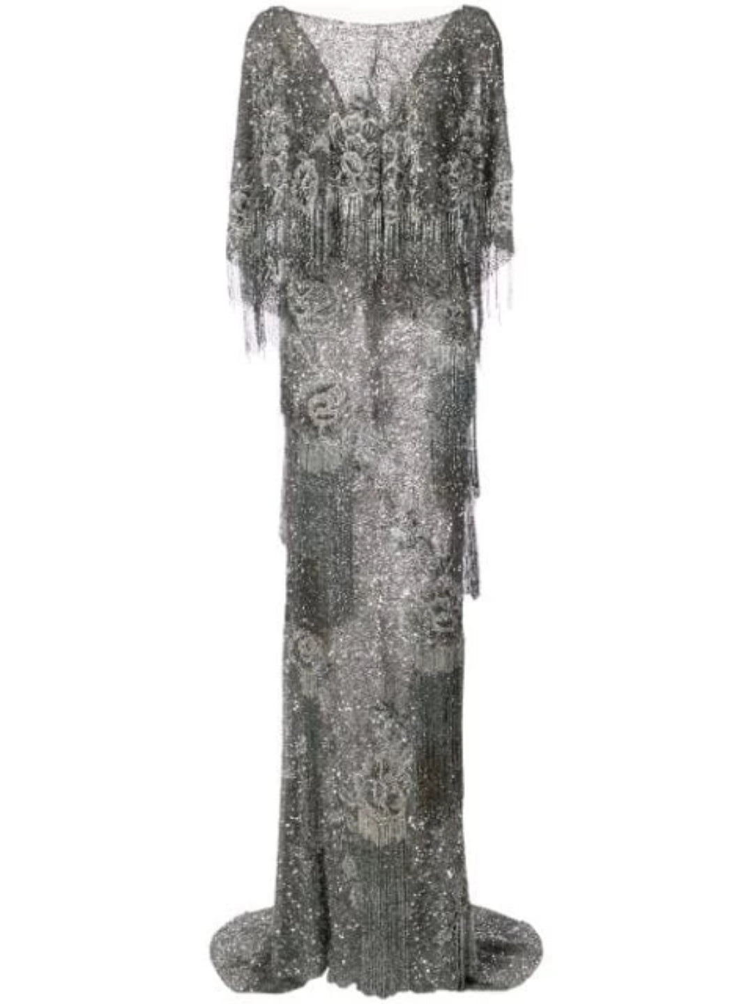 Fringe Cape Gown