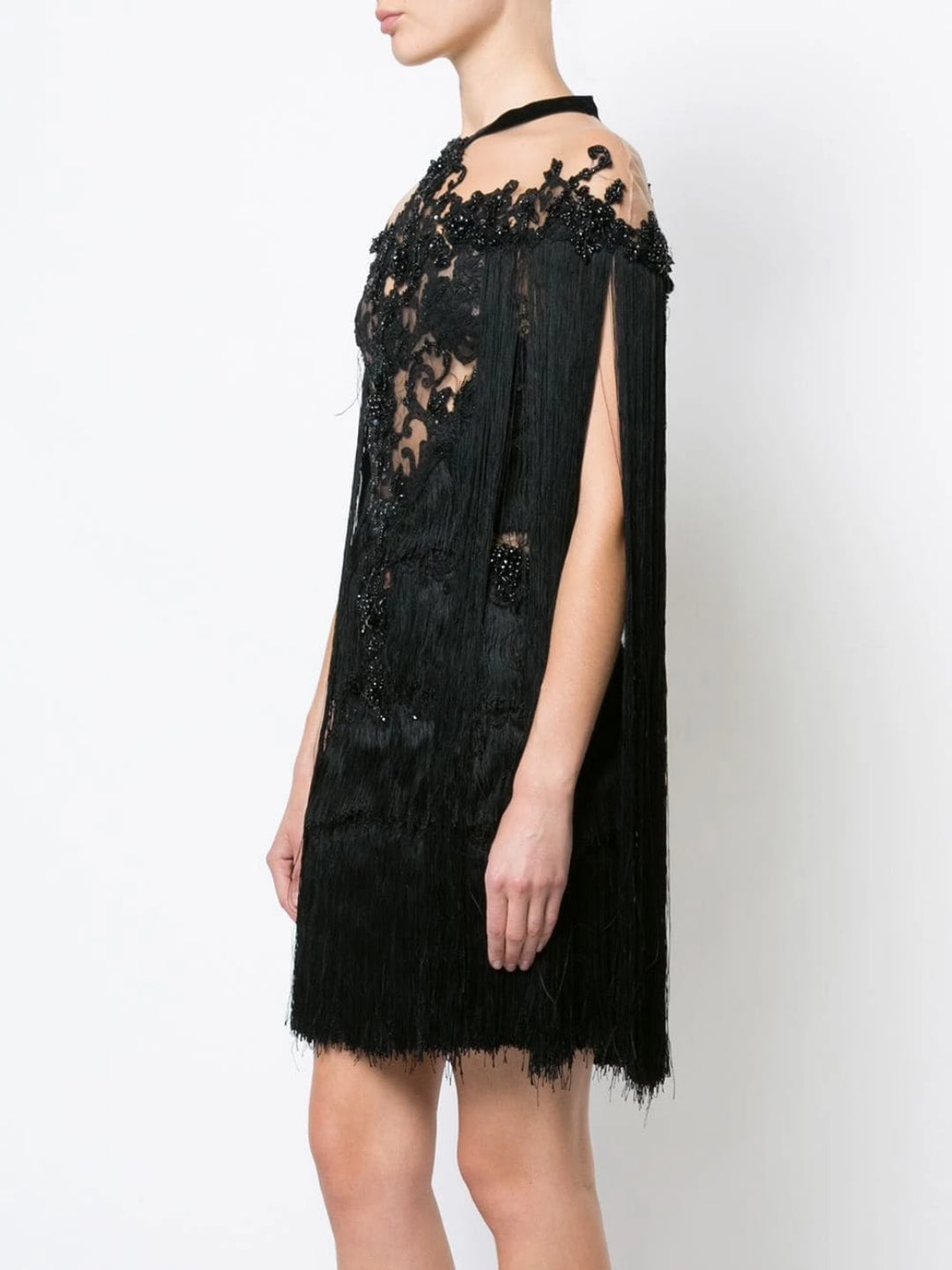 fringe cocktail dress