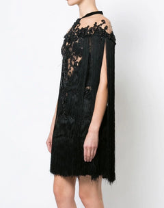 Load image into Gallery viewer, fringe cocktail dress