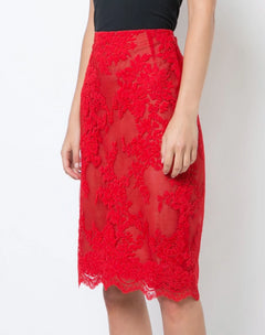 Load image into Gallery viewer, Lace Pencil Skirt