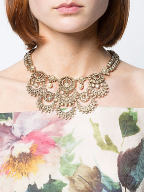 Pearl Embellished Crystal Necklace