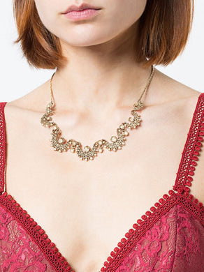 Pearl Embellished Necklace
