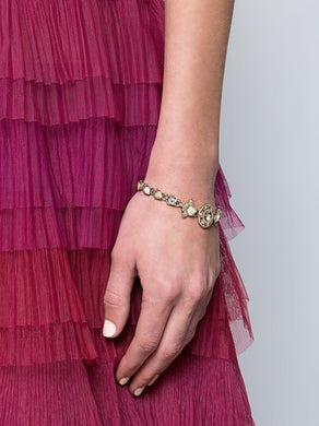 Crystal-Embellished Snap Closure Bracelet