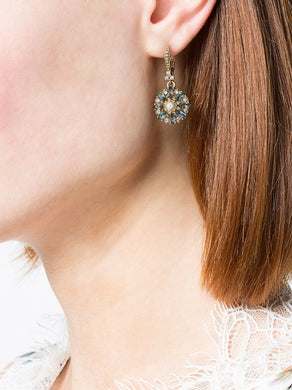 Navy Crystal Embellished Earrings