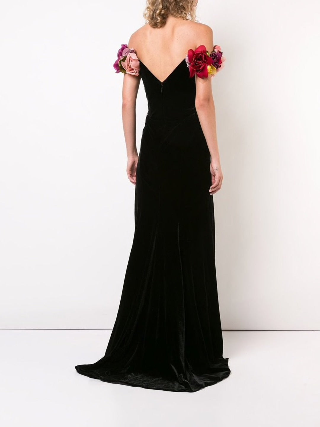 Velvet Off-the-Shoulder Gown