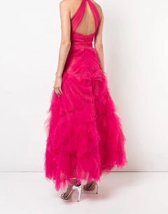 Load image into Gallery viewer, Sleeveless Tulle Tea-length Gown