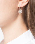 Load image into Gallery viewer, White Gold Floral Diamond Earrings
