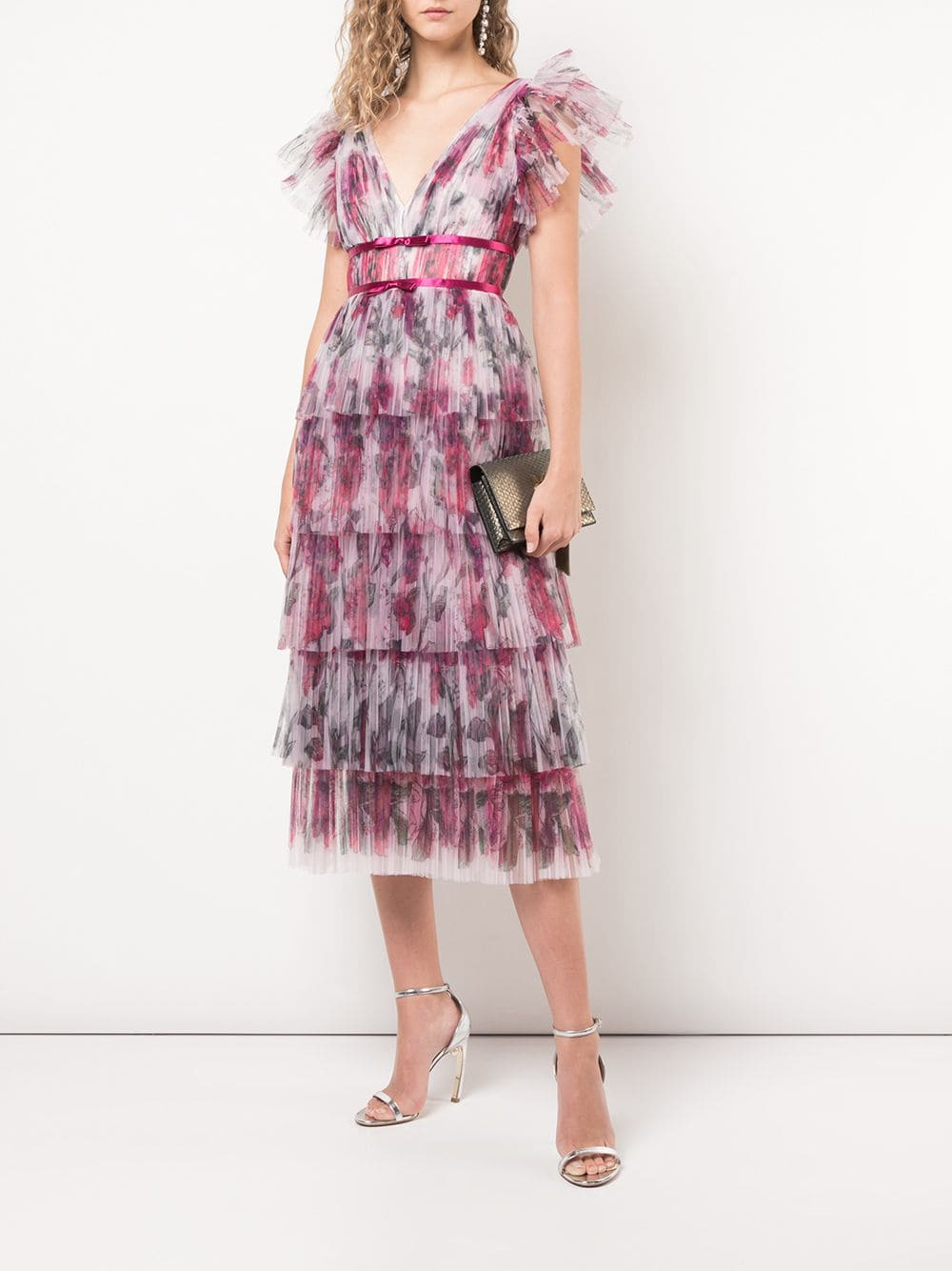Flutter Sleeve Cocktail Dress