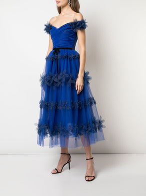 3d Floral Tulle Cocktail Dress
