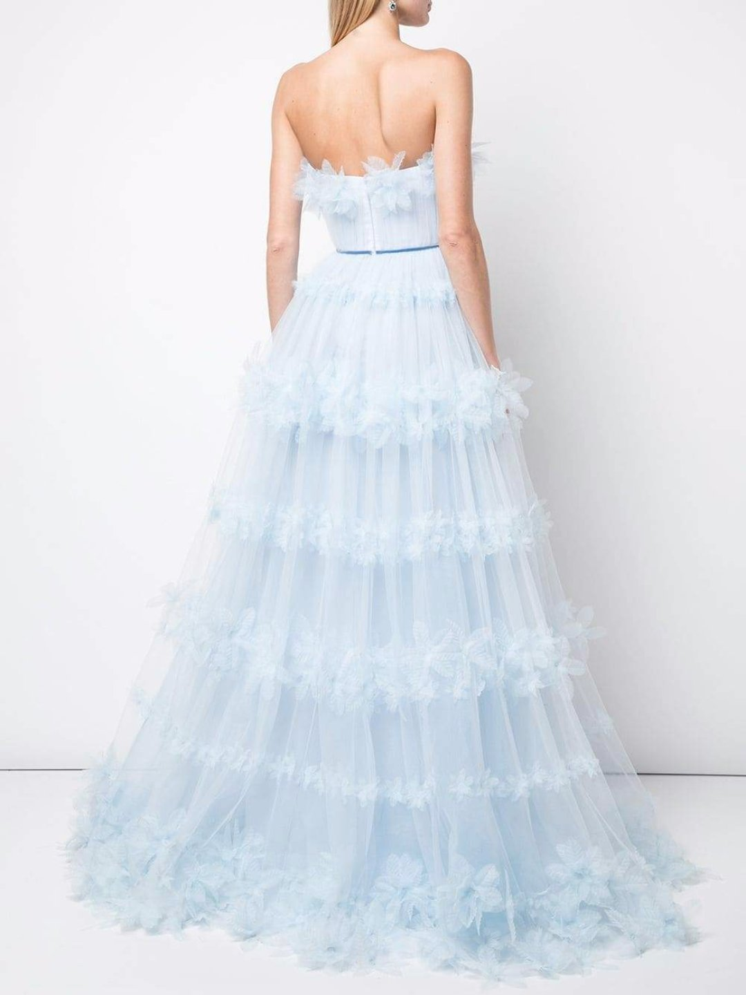 3D Floral Tulle Ballgown