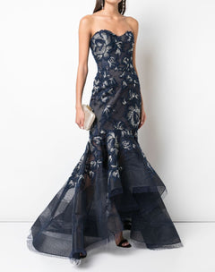 Load image into Gallery viewer, Strapless High Low Gown