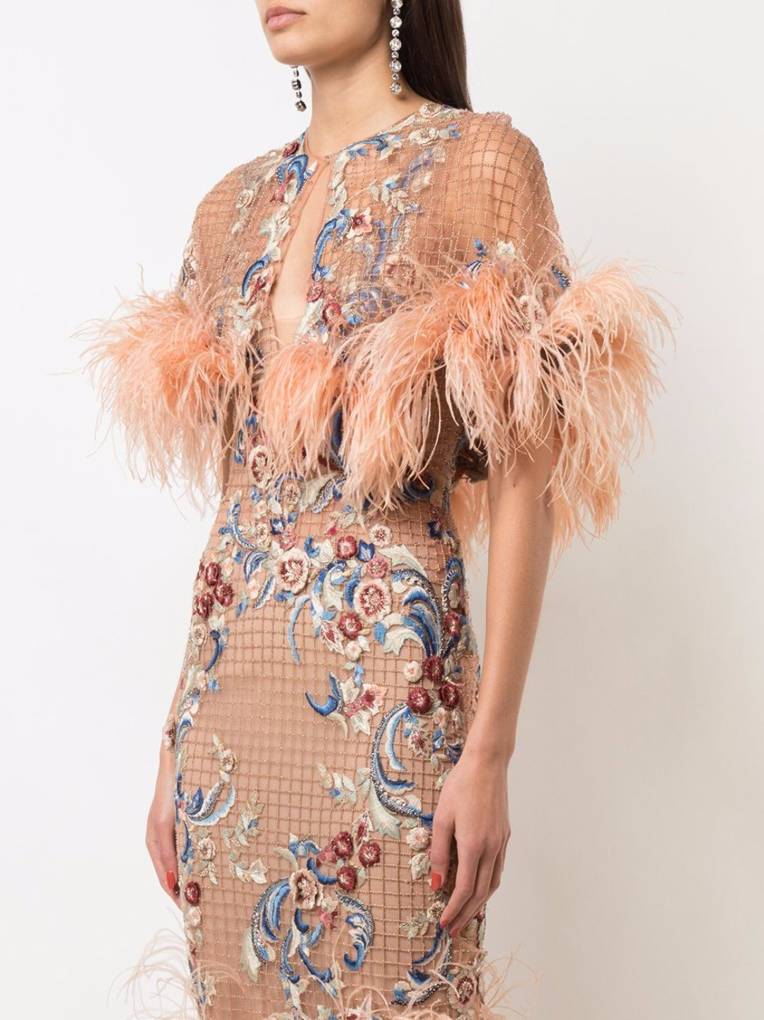 Capelet With Feathers