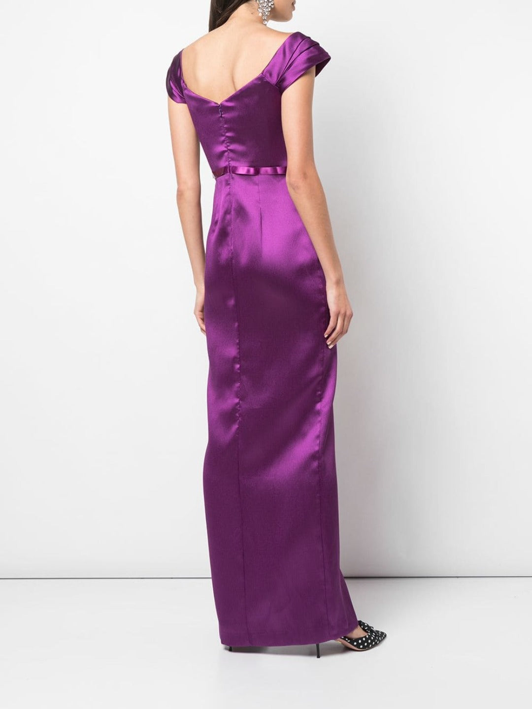 Off The Shoulder Mikado Pique Gown