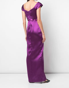 Load image into Gallery viewer, Off The Shoulder Mikado Pique Gown