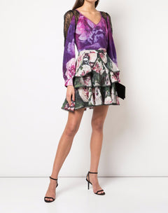 Load image into Gallery viewer, Floral Ruffle Tiered Skirt