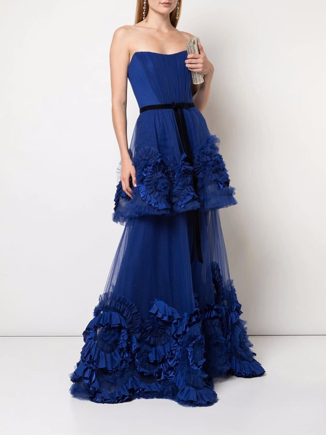 Texture Tiered Gown