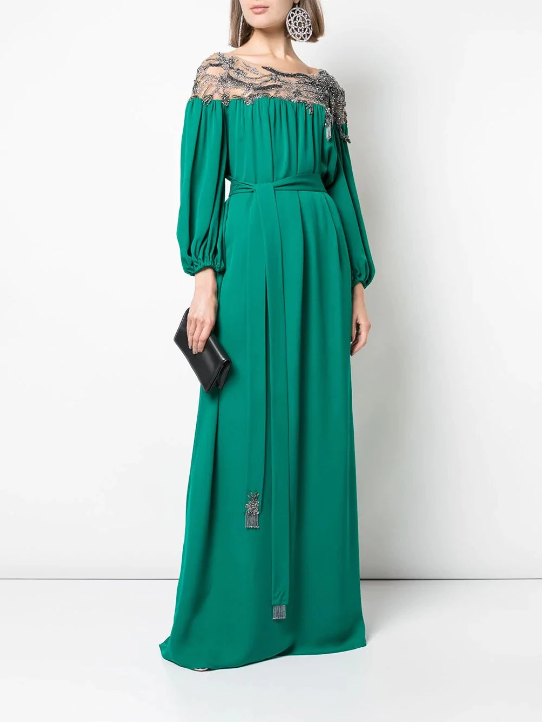 Embroidered Yoke Caftan