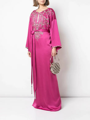 Embroidered Yoke & Sleeves Caftan
