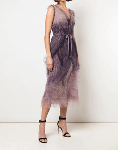 Load image into Gallery viewer, Deep V Textured Cocktail Dress