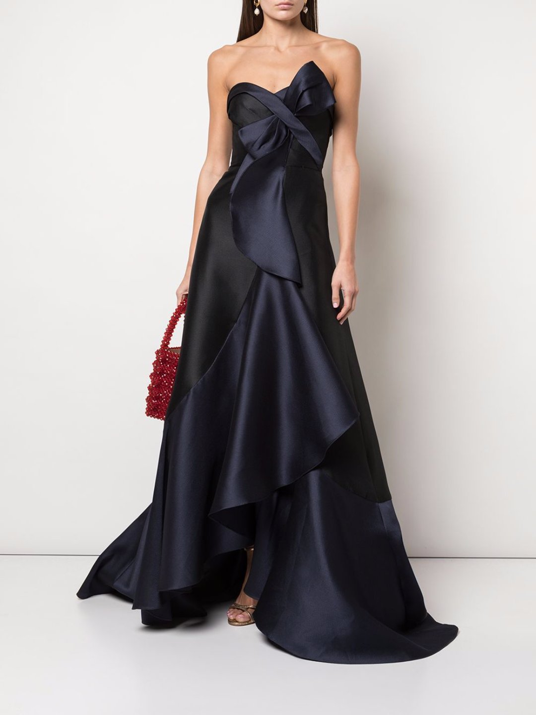 Cascade Drape Two Tone Gown