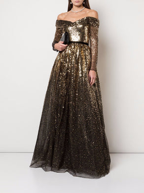 Sequin Degrade Full Gown