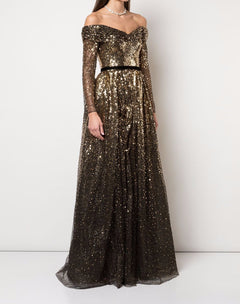 Load image into Gallery viewer, Sequin Degrade Full Gown