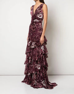 Load image into Gallery viewer, V-Tiered Burnout Gown
