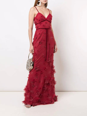 3D Floral Fit-to-Flare Gown