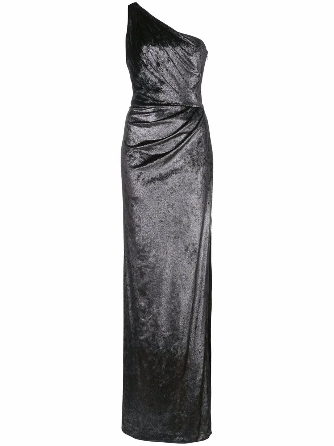 Draped Metallic Lamé Gown