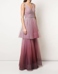 Load image into Gallery viewer, Two Tiered Ombre Gown