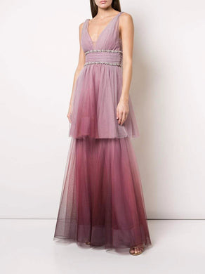 Two Tiered Ombre Gown