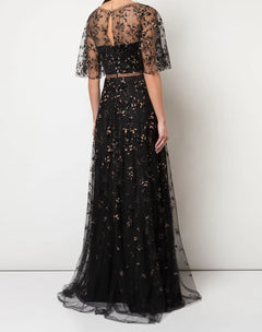 Load image into Gallery viewer, V-Neck Glitter Tulle Gown