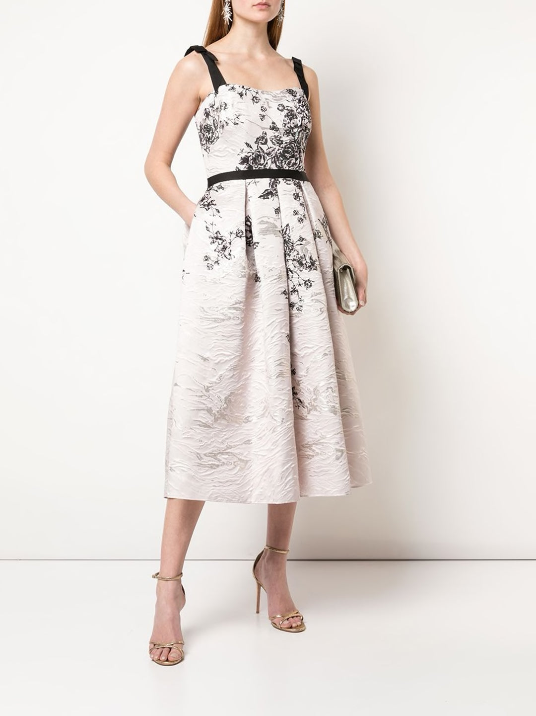 Floral Print Jacquard Cocktail