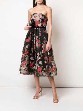 Fil Coupe Tea Length Cocktail Dress