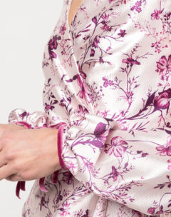 Load image into Gallery viewer, Bishop Sleeve Floral Print Charm Gown