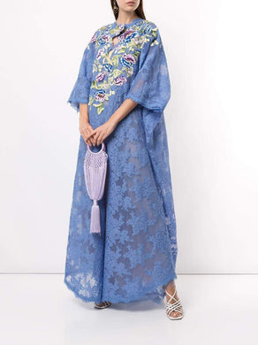 Embroidered Lace Caftan