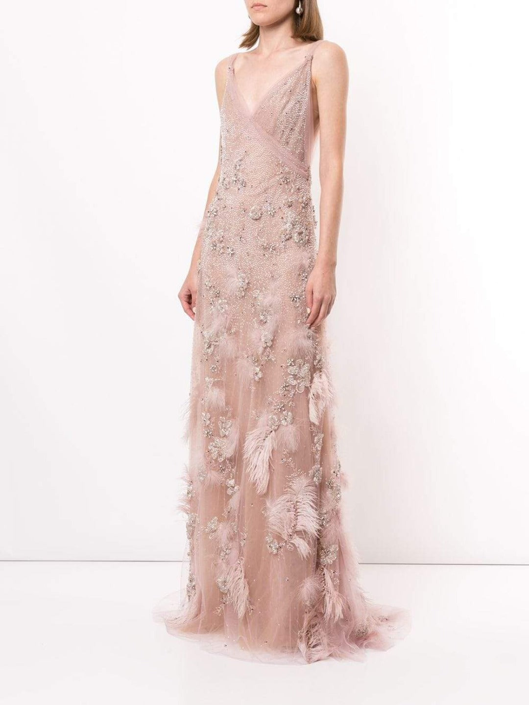Embellished A-Line Evening Gown