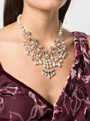 Crystal Embellished Drama Collar