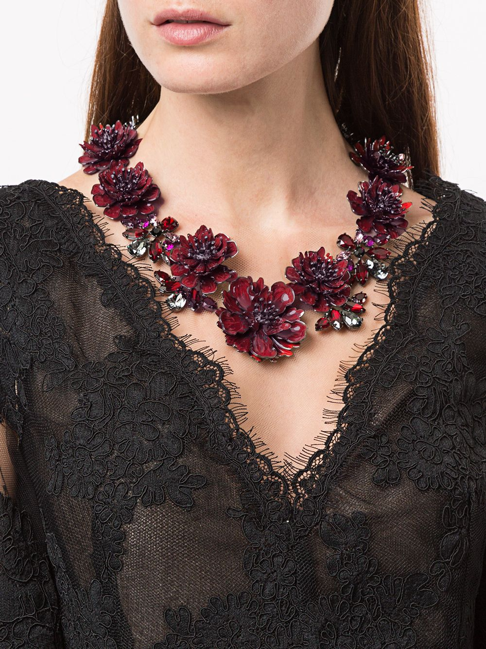 Red Floral Necklace