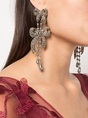 Nightingale Bow Drop Earrings